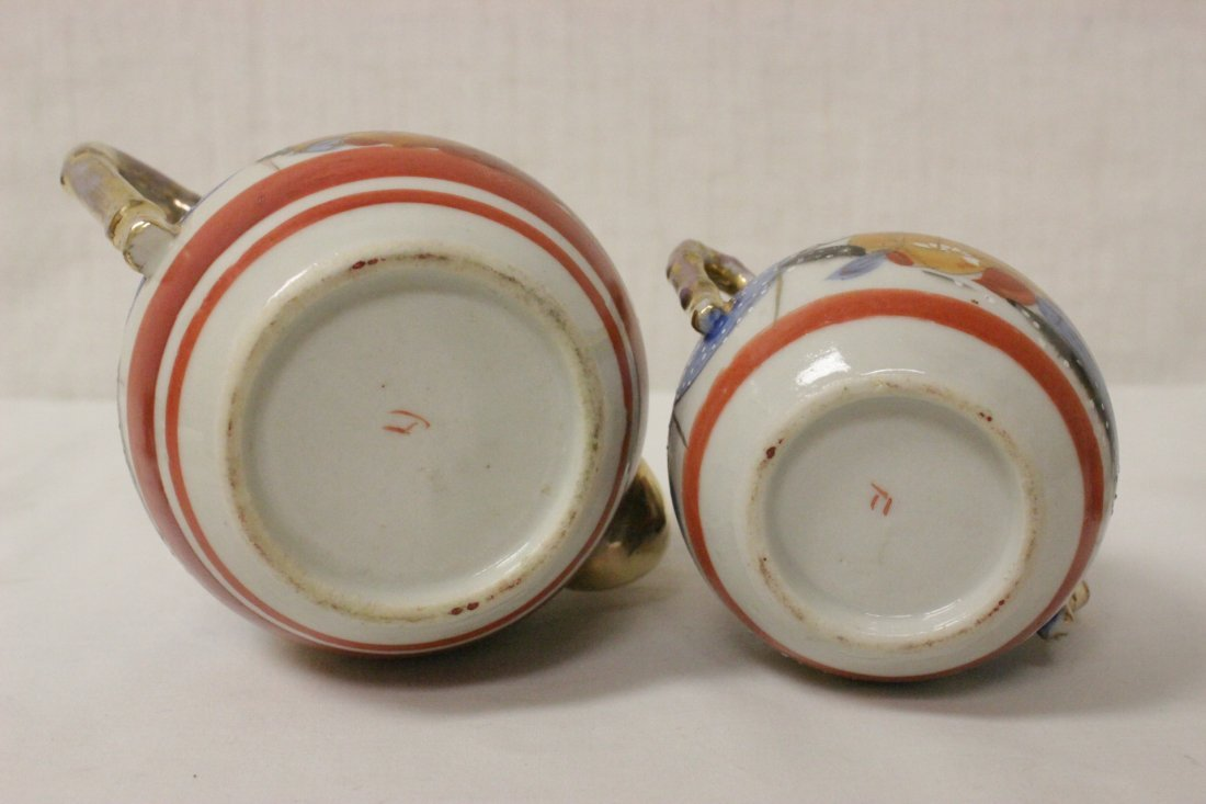 A Japanese Kutani tea set, and a Kutani sake set - 10