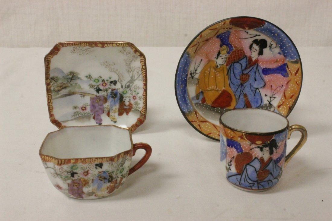 A Japanese Kutani tea set, and a Kutani sake set - 8