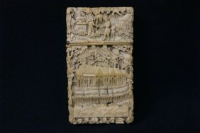 Beautiful Ivory Carved Card Box