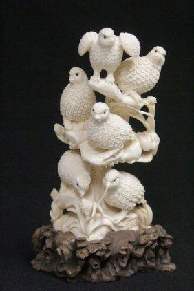 Ivory Carved Japanese Antique Okimono