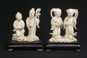 2 Antique Chinese Ivory Carving