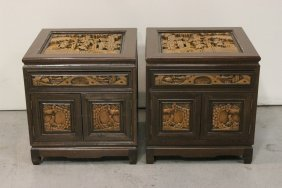 Pr Chinese Rosewood/camphor Wood Chest