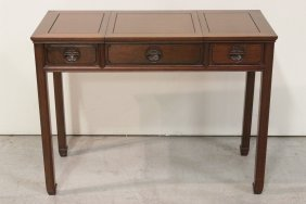 Unusual Chinese Rosewood Lady's Desk