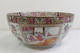 A Beautifully Painted Famille Rose Large Bowl