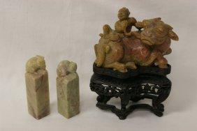 3 Shoushan Stone Items