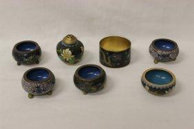 7 Japanese Miniature Cloisonne Pieces
