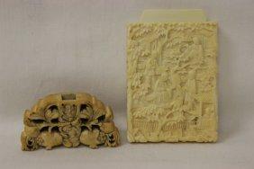 Antique Ivory Card Box