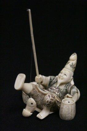 Japanese Ivory Carved Okimono