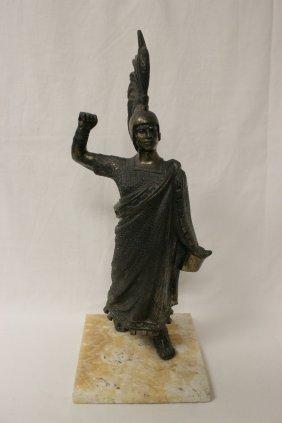 Early 20th Century Gilt Metal Sculpture Of Trojan