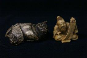 2 Japanese Ivory Carved Netsuke