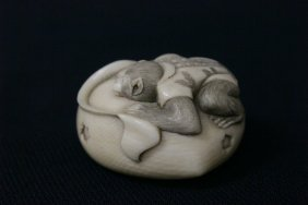 Early 20th C. Japanese Ivory Carved Netsuke