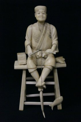 Japanese Ivory Carved Okimono