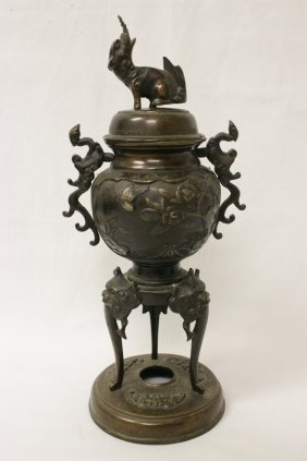 Japanese 19th Century Bronze Covered Vase