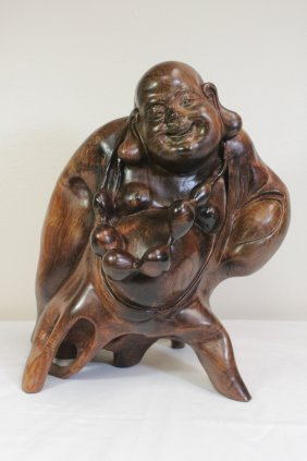 Huanghuali Wood Carved Monk