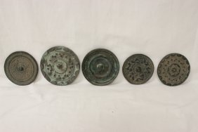 5 Chinese Bronze Mirrors