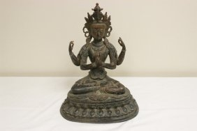 A Large Chinese Bronze Sculpture