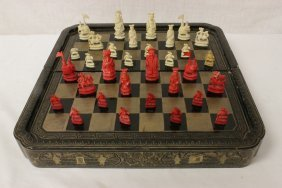 Chinese Ivory Chess Set