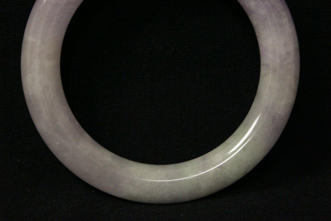 Beautiful lavender jadeite bangle bracelet - 3