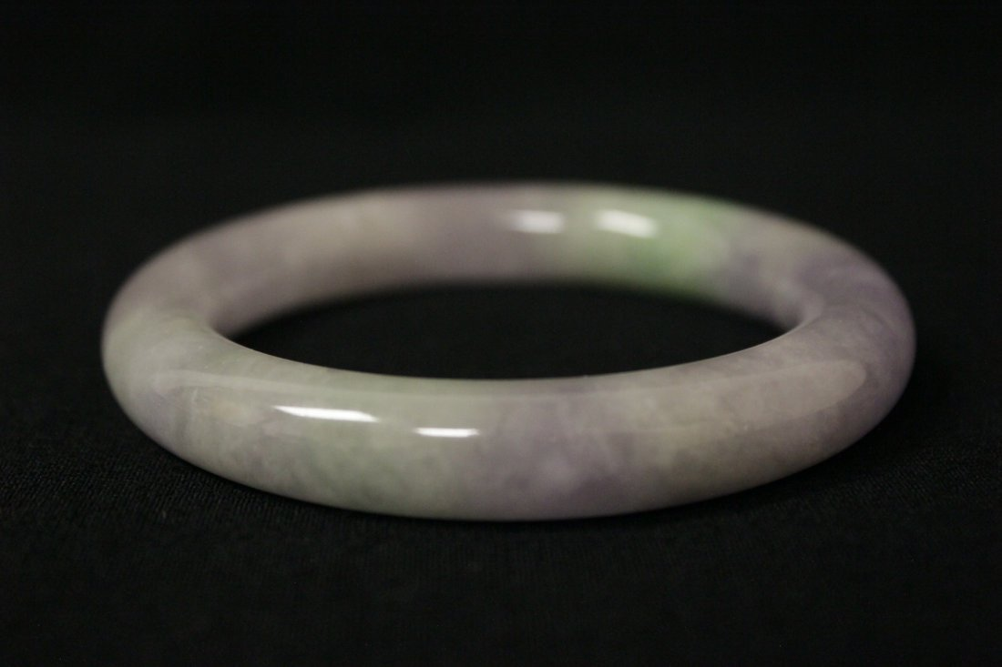 Beautiful lavender jadeite bangle bracelet - 4