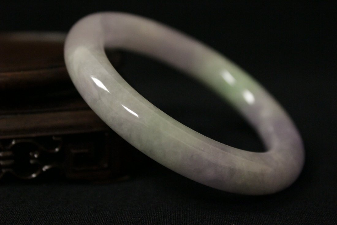 Beautiful lavender jadeite bangle bracelet - 5