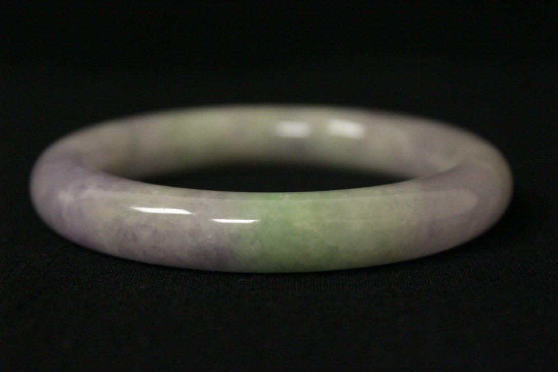 Beautiful lavender jadeite bangle bracelet - 6