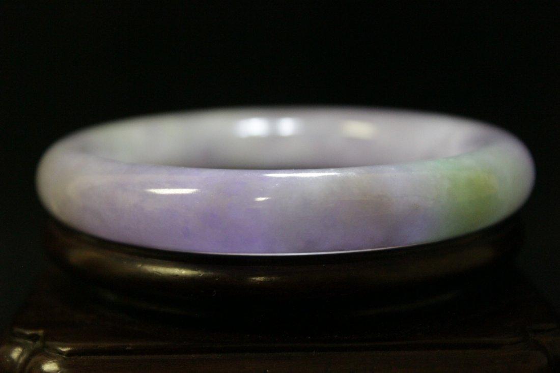 Beautiful lavender jadeite bangle bracelet - 7