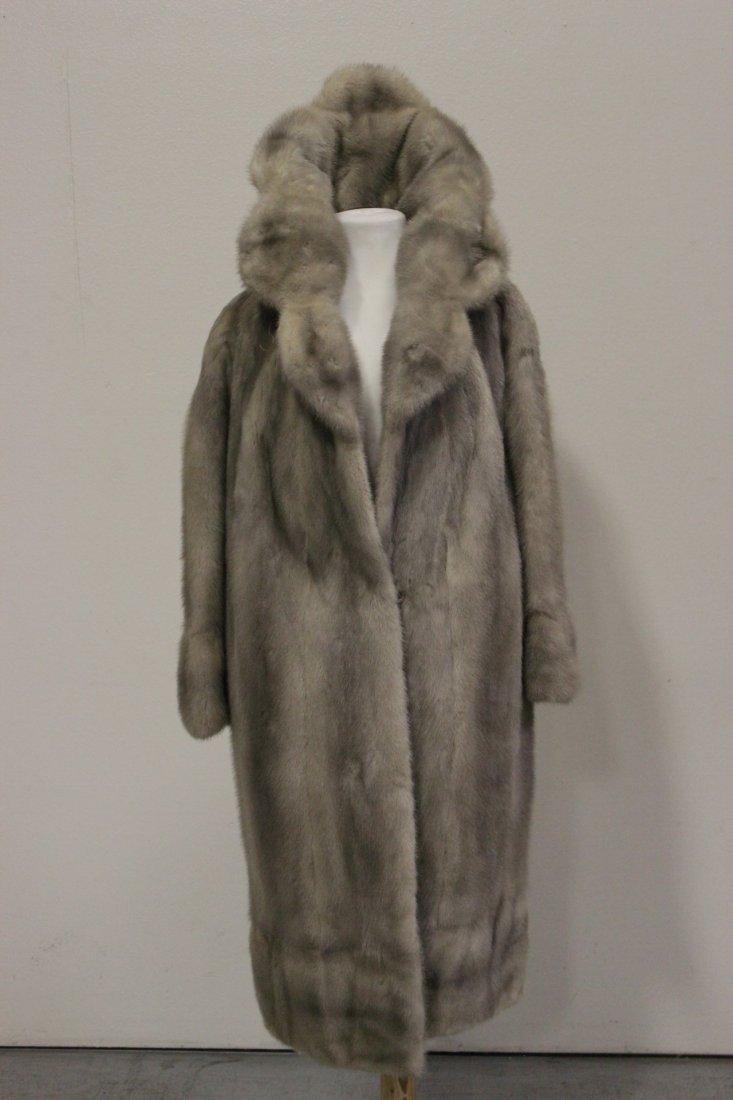 A full length mink coat