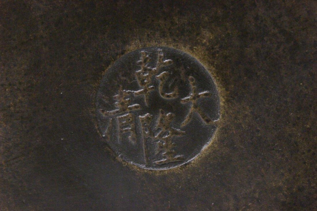 Parcel gilt bronze brush holder - 10