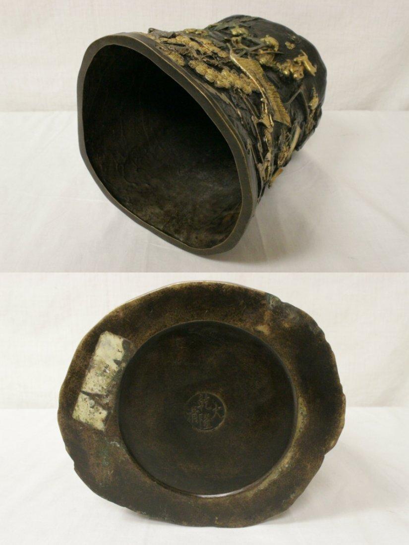 Parcel gilt bronze brush holder - 9