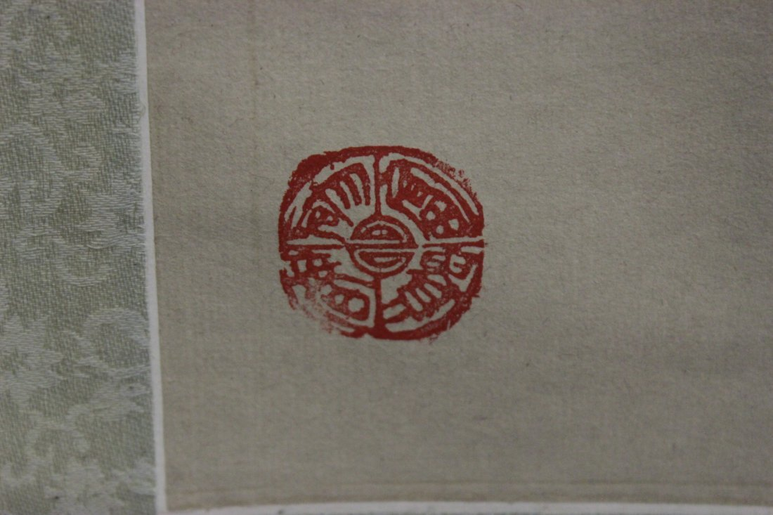 Chinese watercolor scroll depicting flowers - 4