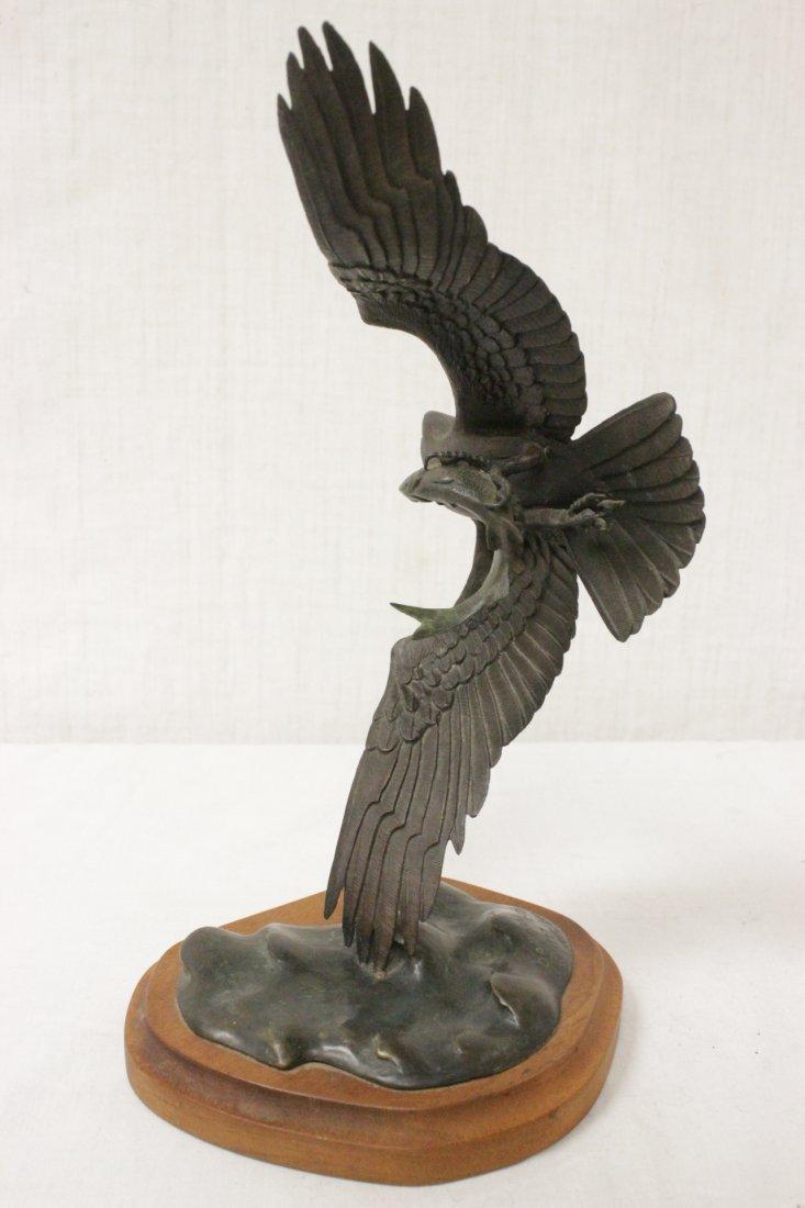 Bronze sculpture of eagle - 3