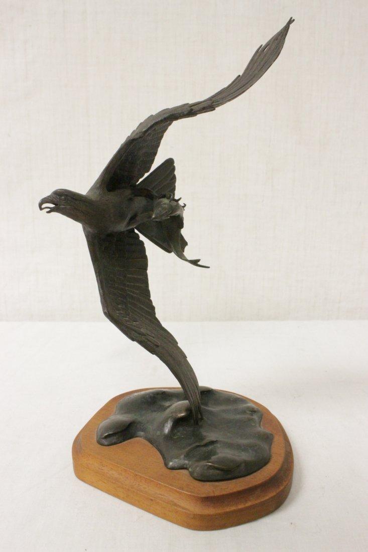 Bronze sculpture of eagle - 4