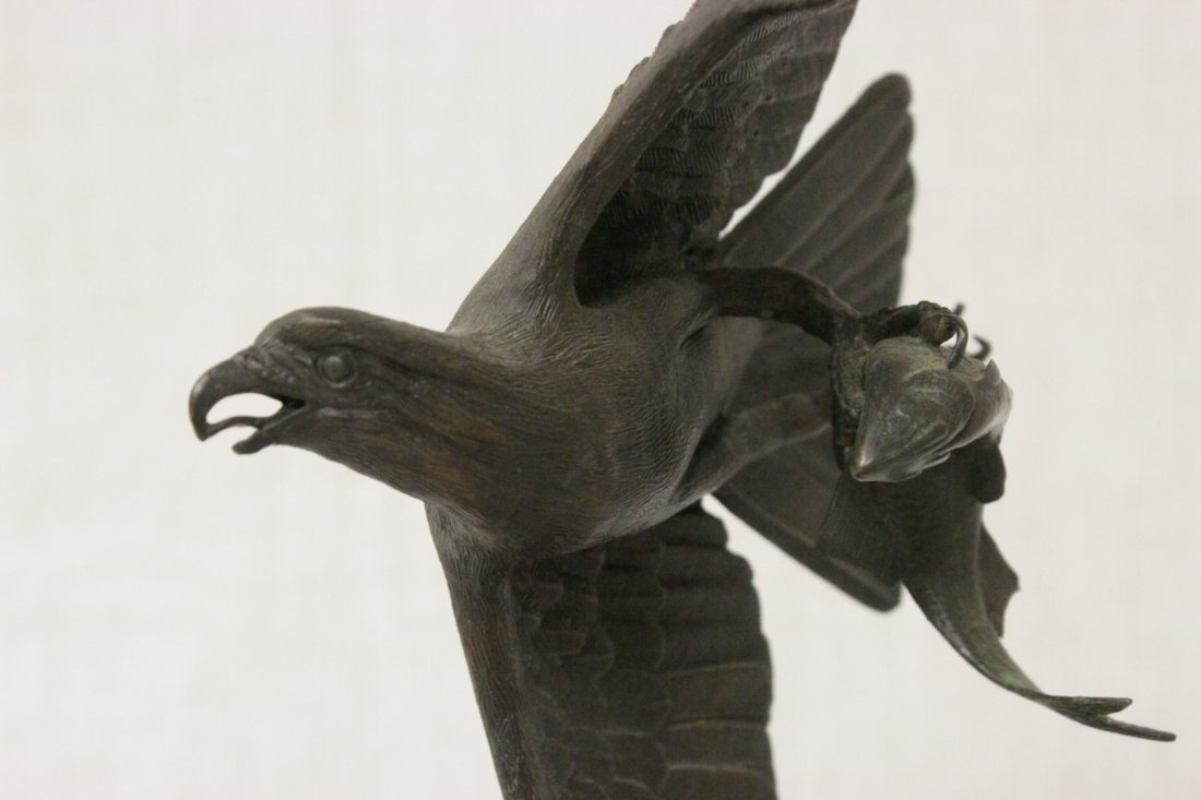 Bronze sculpture of eagle - 5