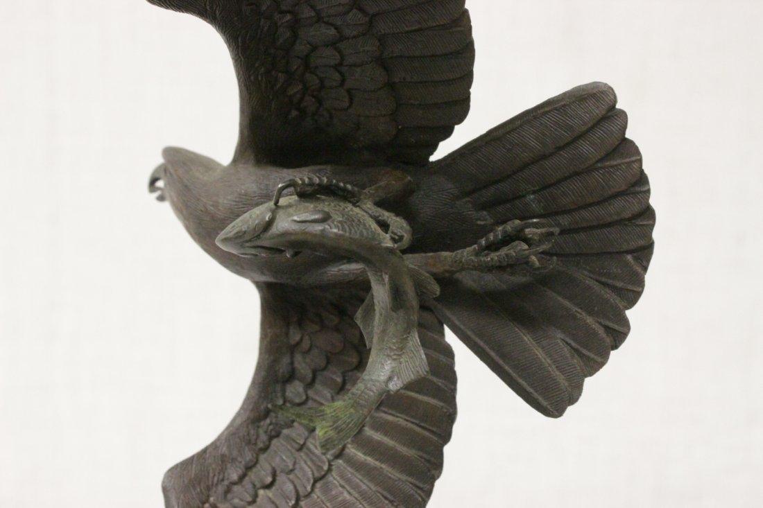 Bronze sculpture of eagle - 7
