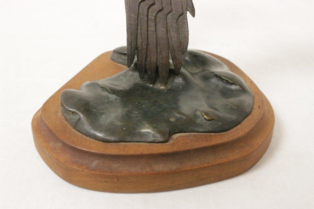 Bronze sculpture of eagle - 8