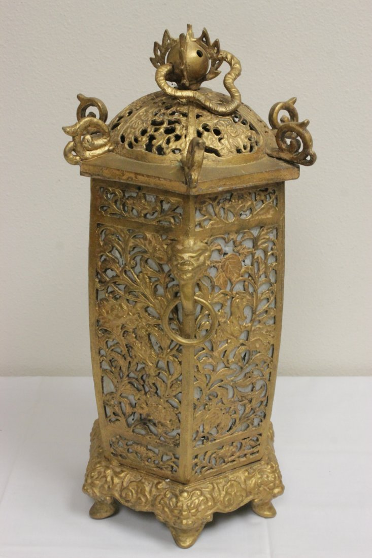 Chinese gilt metal lantern - 3