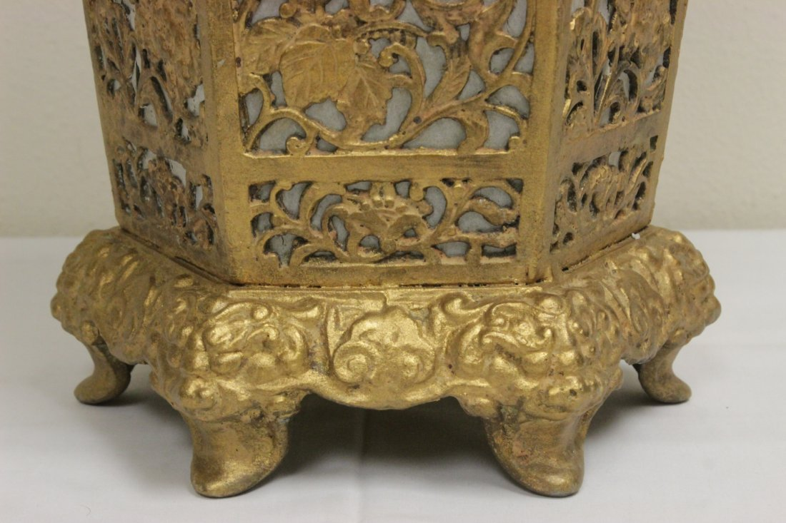 Chinese gilt metal lantern - 6