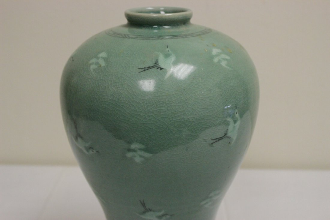 Korean celadon vase - 5