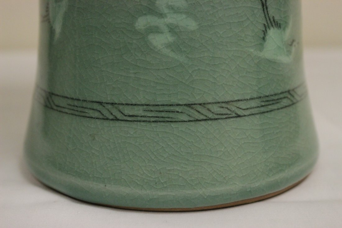 Korean celadon vase - 7