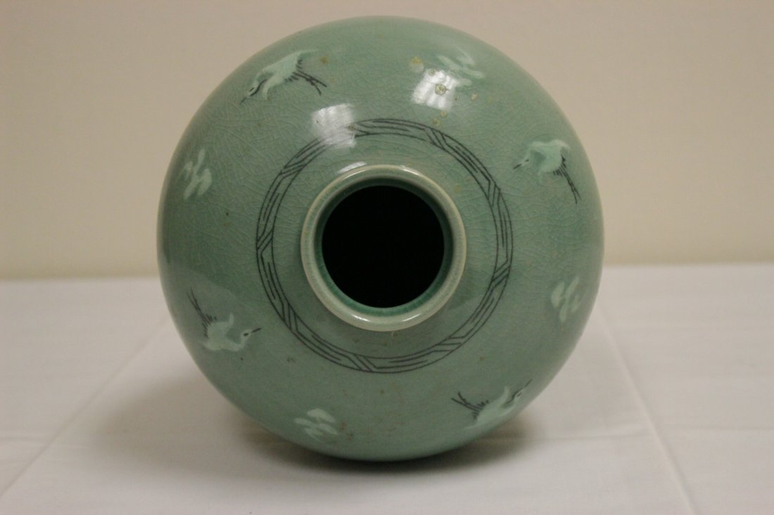 Korean celadon vase - 9
