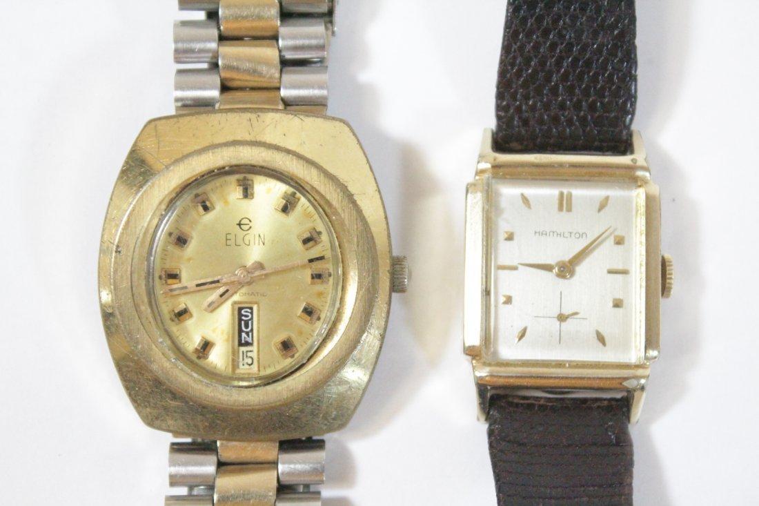 A vintage Hamilton watch and a vintage Elgin watch