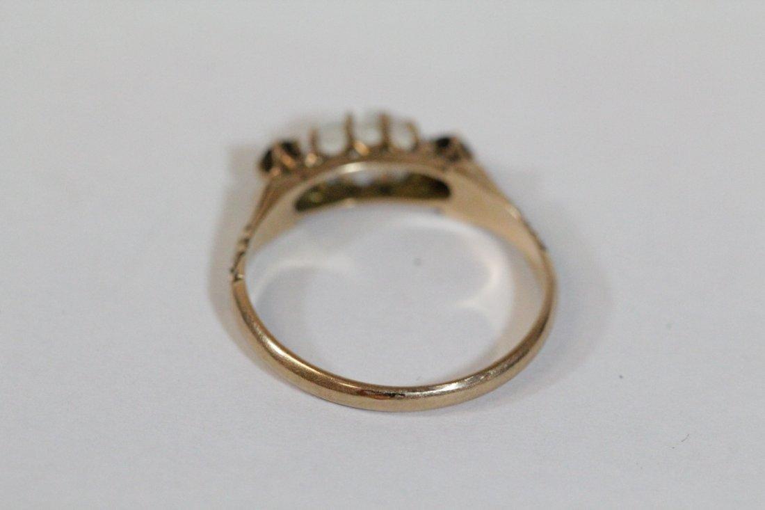 2 Victorian 10K Y/G rings - 10