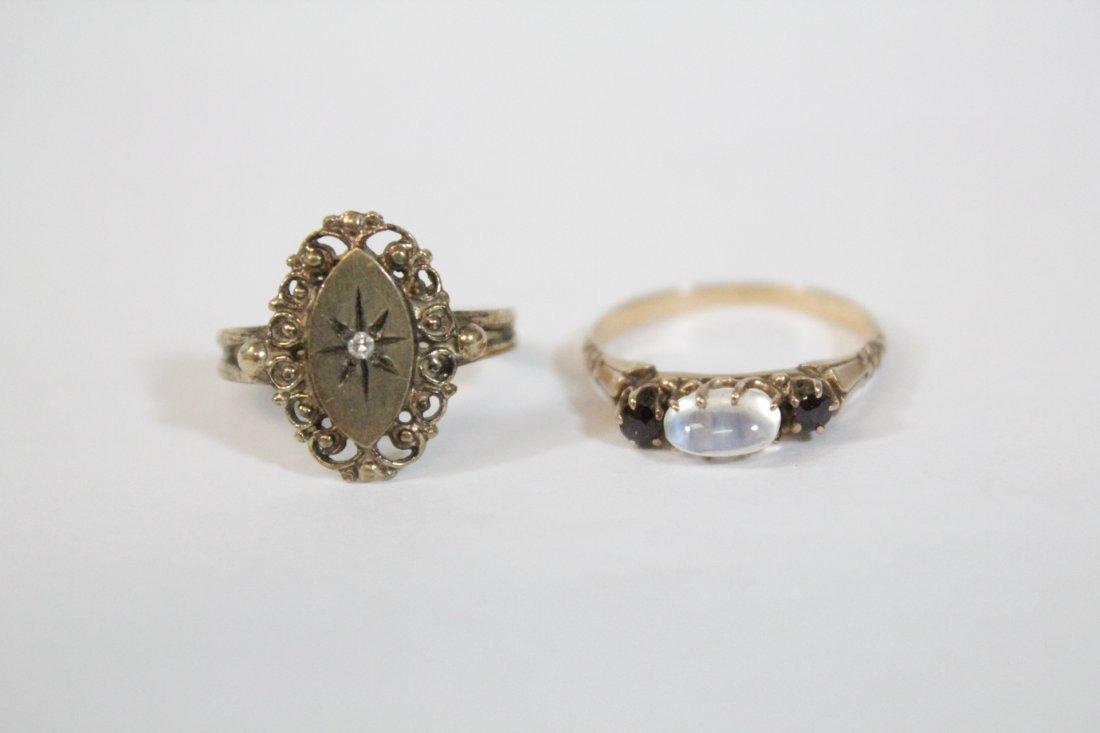 2 Victorian 10K Y/G rings