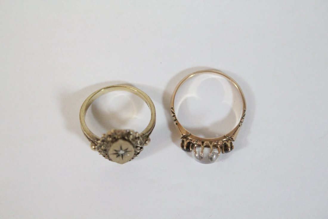 2 Victorian 10K Y/G rings - 2