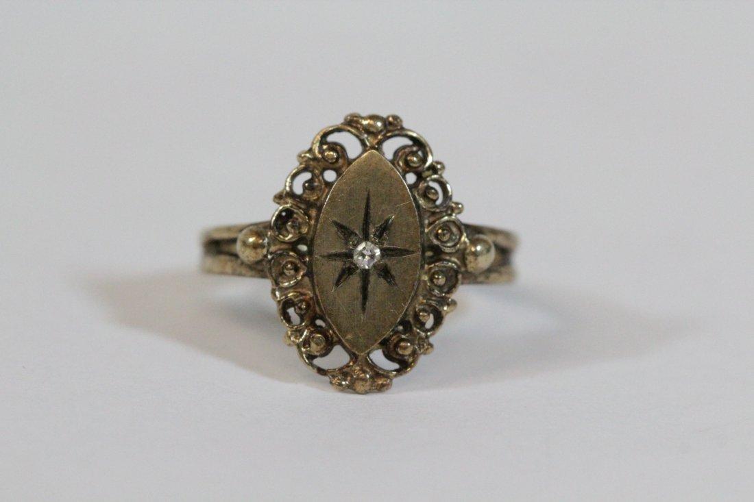 2 Victorian 10K Y/G rings - 3