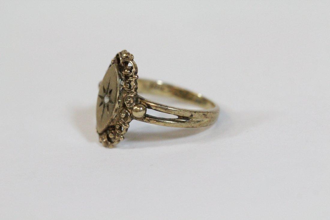 2 Victorian 10K Y/G rings - 4