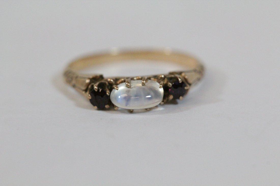 2 Victorian 10K Y/G rings - 7