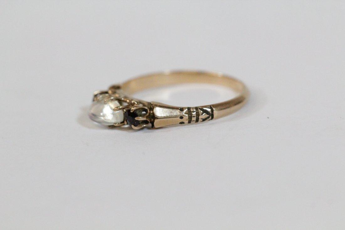 2 Victorian 10K Y/G rings - 8