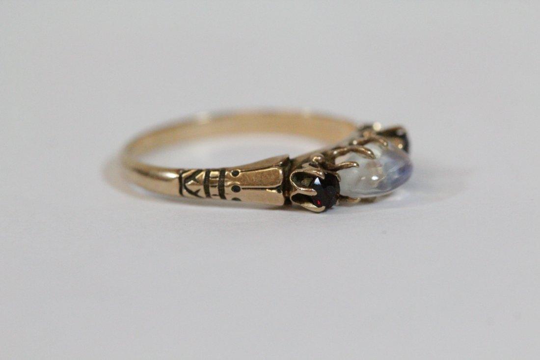 2 Victorian 10K Y/G rings - 9