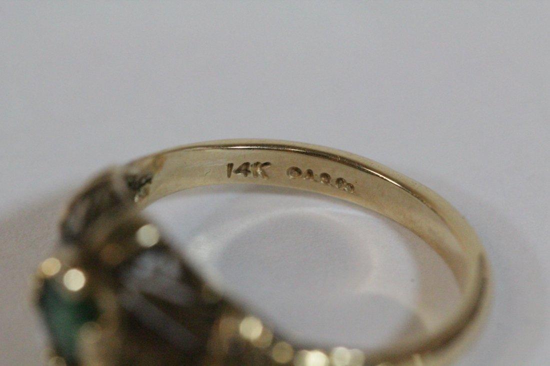 14K Y/G Victorian emerald ring - 5